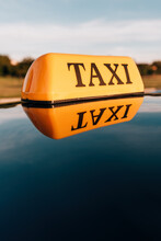 Taxi Sign On Cab Car Roof