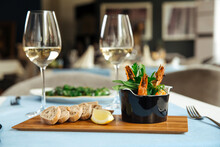 Spanish Dish Gambas Pil-pil Shrimps