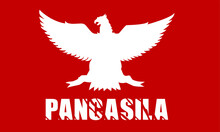 Indonesian Holiday Pancasila Day Illustration. Translation: October 01st, The Teks Wrote With The Indonesian Language With Translation: Happy Pancasila Day.
