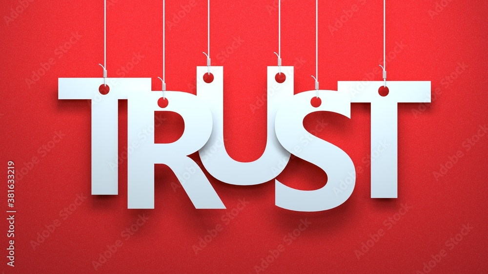 Fototapeta Trust on Red