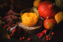 Dark Mood Rustic Pumpkin Puree