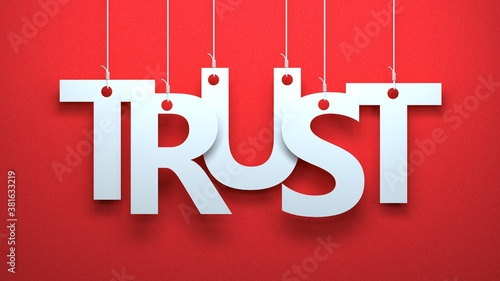 Trust on Red Fotobehang