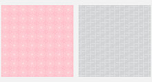 Decorative Backgrounds, Seamless Pattern. Pink, Gray Tones. Vector