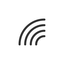 Half Rainbow Icon. Nature Symbol Modern, Simple, Vector, Icon For Website Design, Mobile App, Ui. Vector Illustration