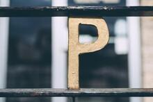 Metal Lettering  On Railing