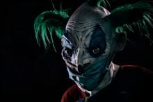 Disturbing Evil Clown Wearing ...