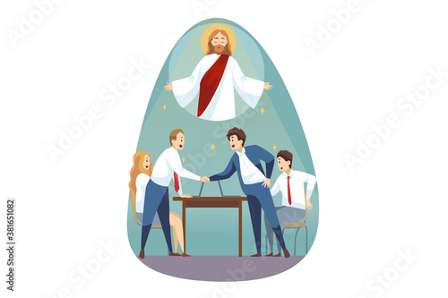 Canvas-taulu Religion, support, business, christianity, meeting concept