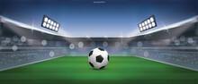 Soccer Football Ball On Green ...
