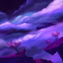 Landscape With Purple Clouds P...