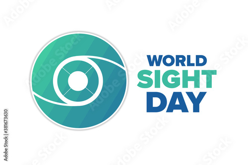 Fototapeta World Sight Day. Holiday concept. Template for background, banner, card, poster with text inscription. Vector EPS10 illustration. obraz