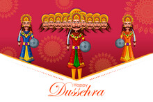 Vector Illustration Of Ravana ...