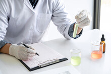Scientist Or Medical In Lab Co...
