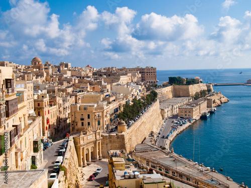 Foto View of Valletta, the capital city of Malta