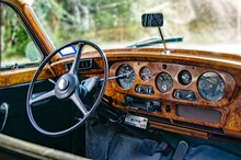 Interior Dashboard Of Luxury, ...