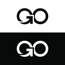 Typography Of GO With Arrow Inside. Very Suitable In Various Business Purposes, Also For Icon, Symbol And Many More.