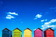 Colorful Wooden Changing Huts ...