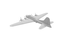 3D Rednering Of A World War Two Bomber Plane White Model
