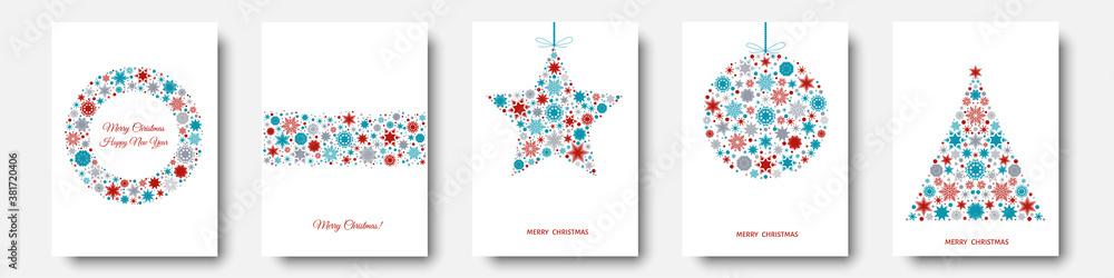 Fototapeta Christmas tree, ball, xmas elements and decorations.