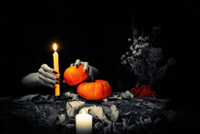 Black Magic Ritual. Witches Ha...