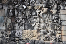 Close Up View Of The Carvings ...