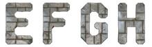 Set Of Capital Letters E, F, G...