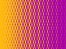 An Orange And Purple Halftone ...