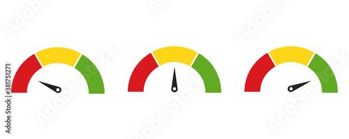 Fotografiet Color speedometer icon
