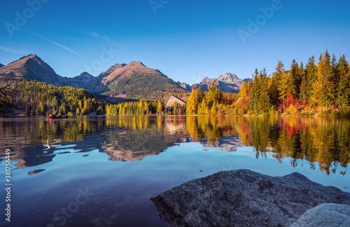 Fotografia Panorama of High Tatras mountains - National park and Strbske pleso  (Strbske la
