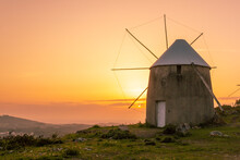 Lanscape With One Old Windmill...