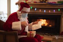 Santa Claus Wearing Face Mask ...