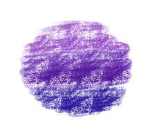 Violet Abstract Stain Isolated On White Background. Colorful Backdrop With Texture Of Chalk. Expressive Grunge Template For  Poster, Card, Stickers, Banner, Flyer, Invitation, Brochure.