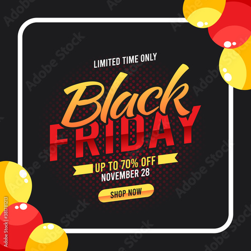 Tela Vector graphic of special offer black friday sale good for special offer black friday sale celebration