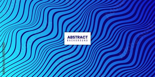 Obraz na plátně Abstract Modern Wavy Flowing Line Pattern Background Design
