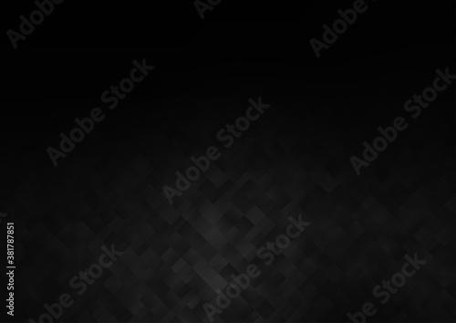 Fotografie, Tablou Dark Silver, Gray vector backdrop with rectangles, squares
