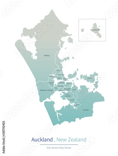 Cuadros en Lienzo Auckland Map. a major city in the New Zealand.