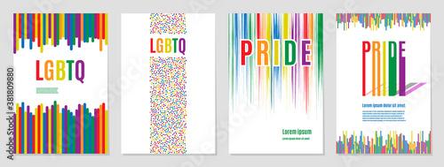 Fotografie, Obraz Lgbtq rainbow flag freedom community, pride pattern on white background, colorful cover illustration