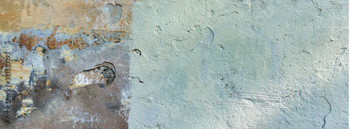 Fotografía Old cracked weathered painted wall background texture
