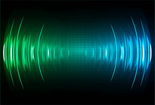 Sound Waves Oscillating Dark Light