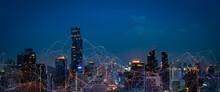 Modern City With Wireless Netw...