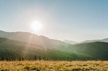 Autumn Sun In The Mountains. T...