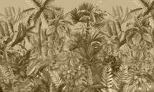 Tropical Forest, Jungle, Sepia