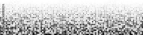 Fototapeta Halftone vector. Monochrome Abstract dot, Gradient halftone dots for background pattern and texture. obraz