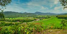 Panoramic View Of Mae Sariang District, Mae Hong Son Province, Thailand.