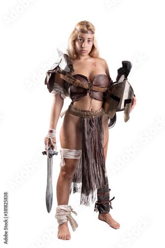 Murais de parede woman gladiator/Ancient warrior