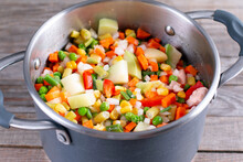 Mix Of Vegetables, Cooked In S...
