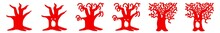 Halloween Tree Icon Red   Dark...