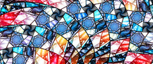 Colorful Stained-glass Ultrawide Screen Background