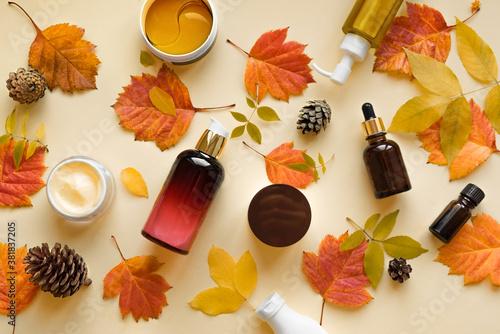 Fototapeta Autumn Skin Care Cosmetics obraz