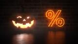 Halloween Pumpkin Percent