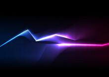 Blue Ultraviolet Neon Glowing ...